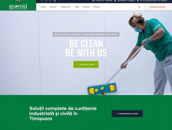 Ecomid – solutii de curatenie industriala si civila isi lanseaza noul website